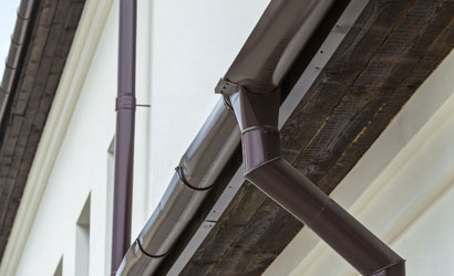 Close up of a Gutter - Get Coastal Exteriors