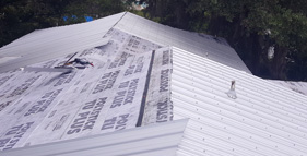In Progress Metal Roof Customer Get Coastal Exteriors
