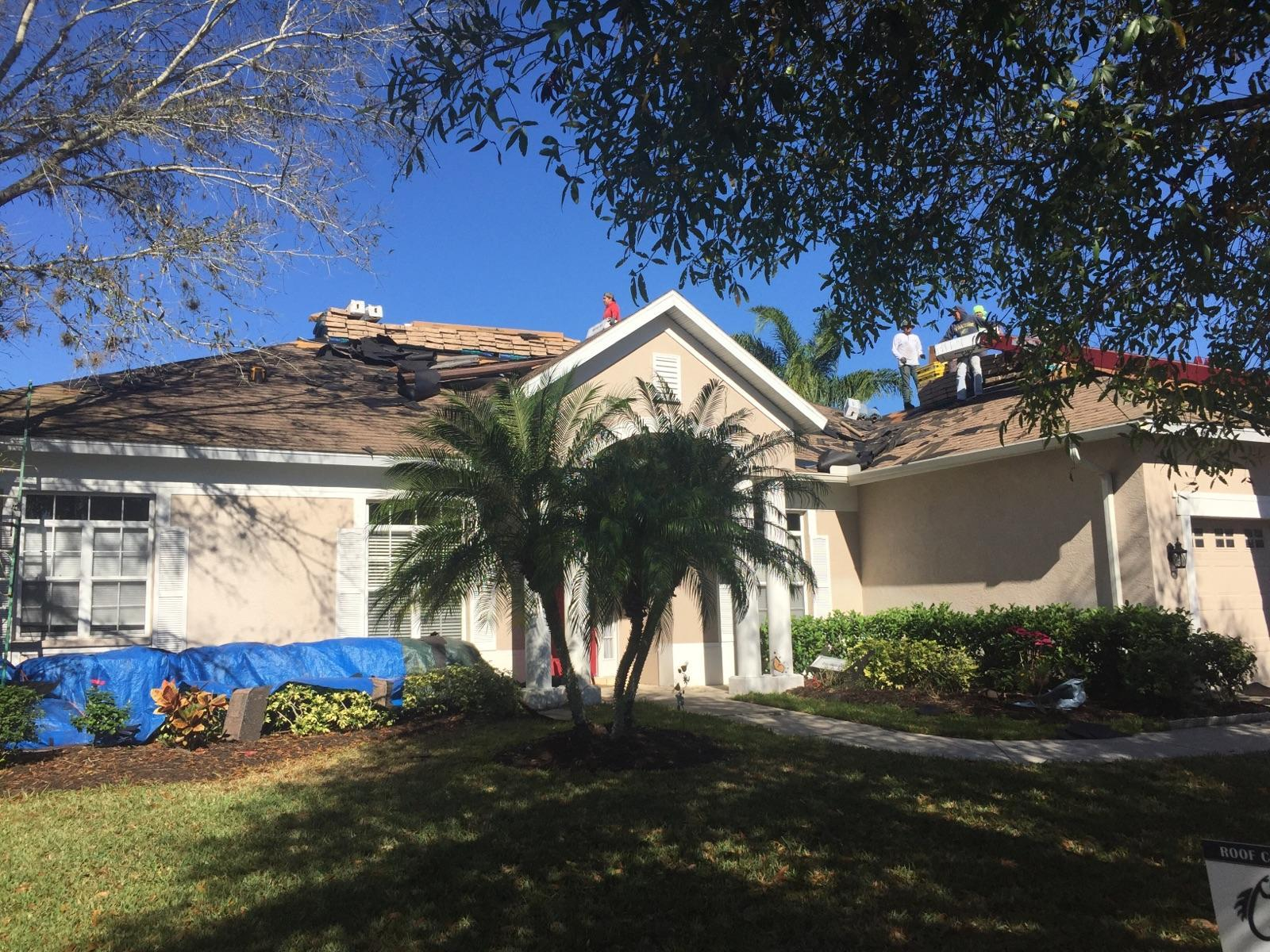 Roof Repair In Progress - Get Coastal Exteriors