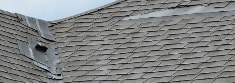 Damaged Roof Before Repair | Get Coastal Exteriors