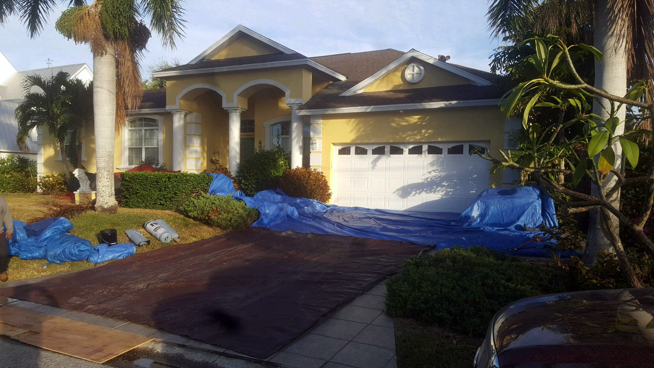 Roof Repair In Progress | Get Coastal Exteriors